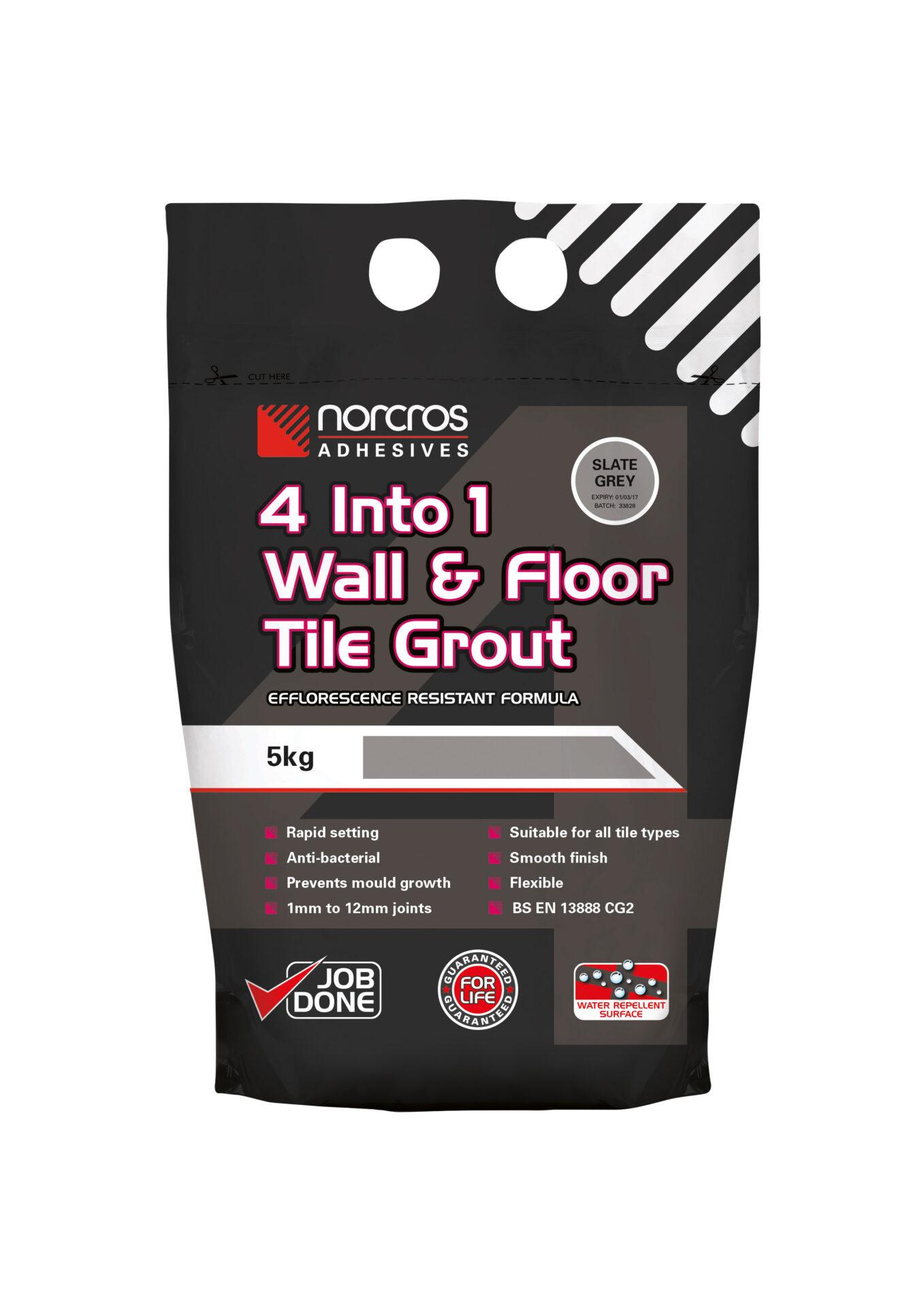 Flexible floor tile grout